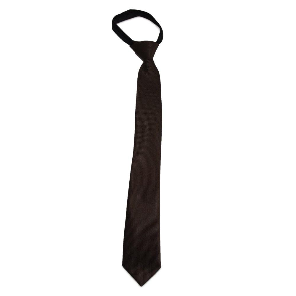 Dětská hnědá kravata s jemným vzorkem