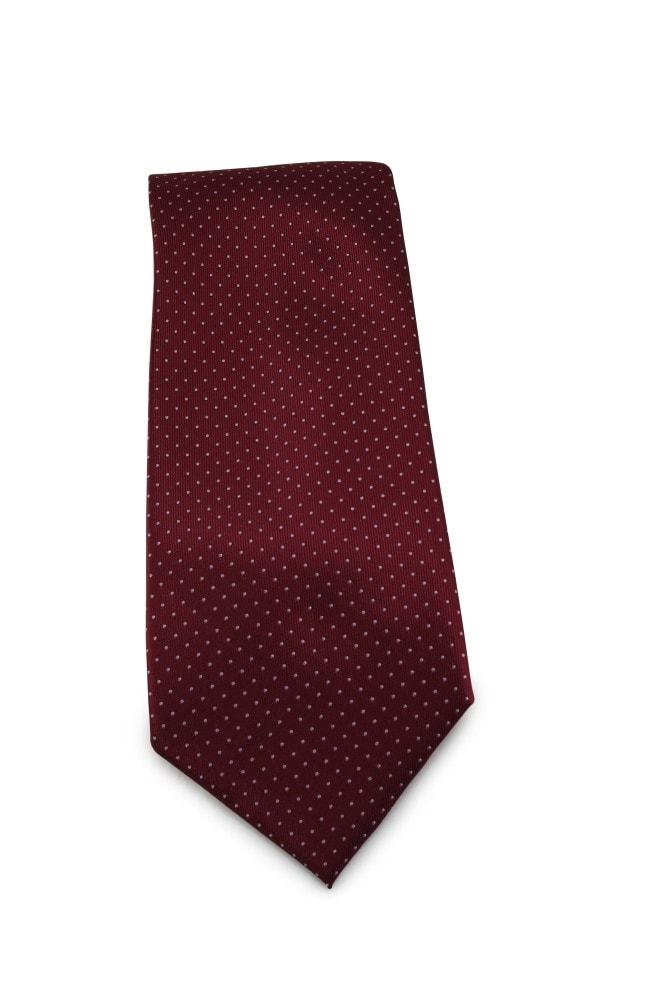 Červená (bordó) mikrovláknová kravata s jemným vzorkem - Kravaty se ... 0da441704d
