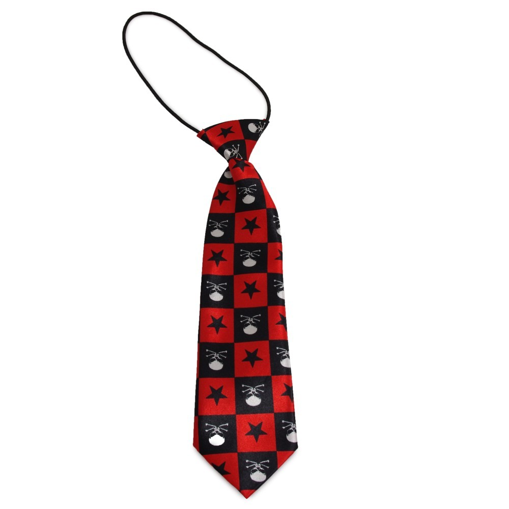 Dětská kravata s obrácenými lebkami (černá 47eaf3b4e4